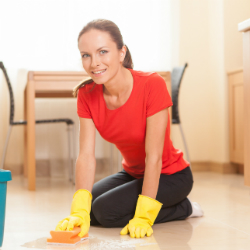 Cleaning with bleach, which is usually based on sodium hypochlorite, is safe if you do it correctly